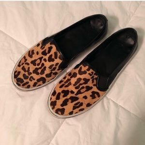 DV slip on shoes leopard print